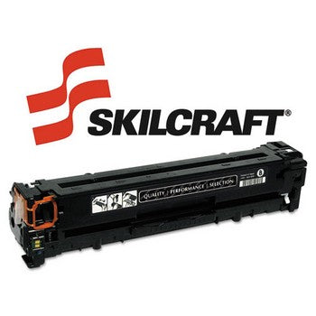 Compatible HP 125A Black, Standard Yield Toner Cartridge, SKILCRAFT SKL-CB540A