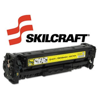 Compatible HP 304A Yellow, Standard Yield Toner Cartridge, SKILCRAFT SKL-CC532A