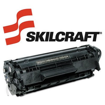 Compatible HP 12A Black, Standard Yield Toner Cartridge, SKILCRAFT SKL-Q2612A