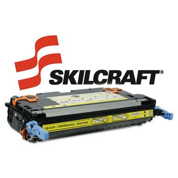 Compatible HP 643A Yellow, Standard Yield Toner Cartridge, SKILCRAFT SKL-Q5952A