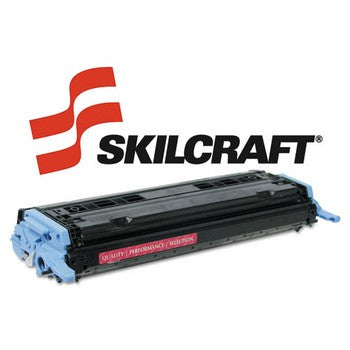 Compatible HP 124A Magenta, Standard Yield Toner Cartridge, SKILCRAFT SKL-Q6003A