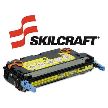 Compatible HP 501A Yellow, Standard Yield Toner Cartridge, SKILCRAFT SKL-Q6472A