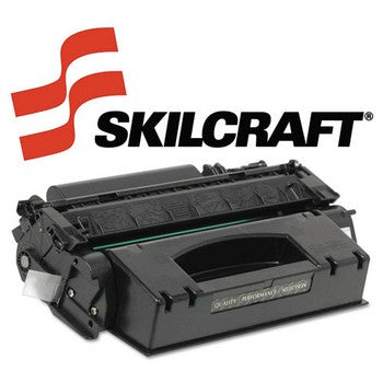 Compatible HP 503A Cyan, Standard Yield Toner Cartridge, SKILCRAFT SKL-Q7581A