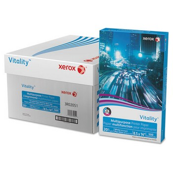 Vitality Multipurpose Printer Paper, 8 1/2 x 14, White, 5,000 Sheets/CT