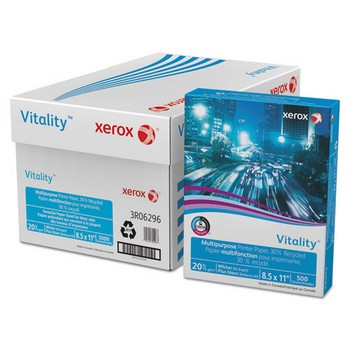 Vitality 30% Recycled Multipurpose Printer Paper, 8 1/2 x 11, White, 500 Sheets