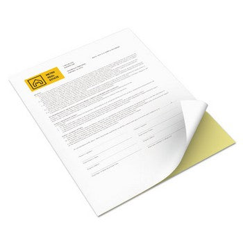 Xerox 8.5x11 white / canary Carbonless paper