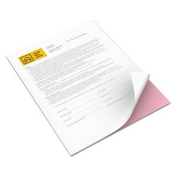 Xerox 3R12421 8.5 x 11 inch Premium Digital Carbonless Paper, White/Pink