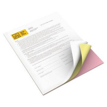 Xerox 3R12424 8.5 x 11 inch Premium Digital Carbonless Paper, Pink/Canary/White
