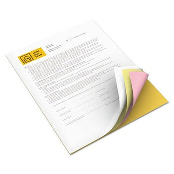 Xerox 3R12856 Goldenrod/Pink/Canary/White, 1250 Sets Carbonless Paper
