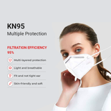 KN95 Protective Face Mask - White - Regular Size - 2 PK - SAME DAY US SHIPPING