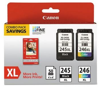 Canon 8278B005 Ink Cartridge and sheets
