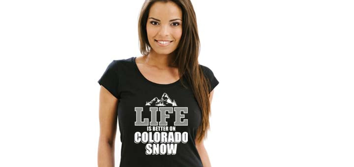 Life is Better in the Colorado Snow Tee