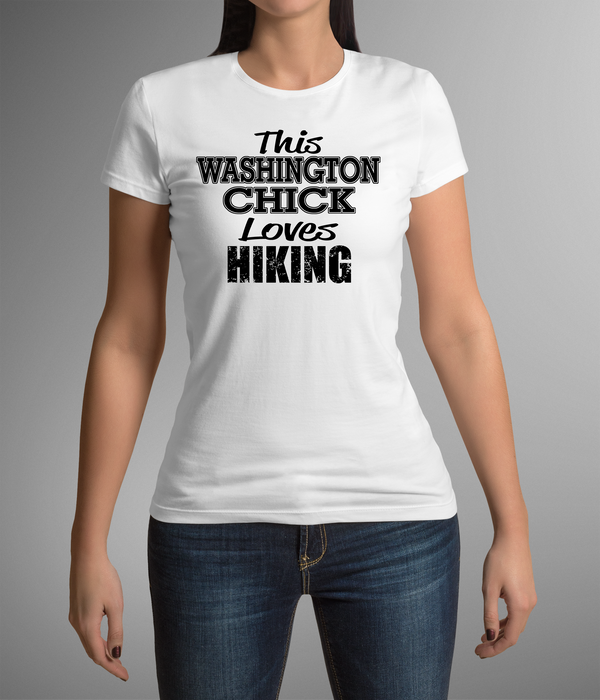 This Washington Chick Loves Hiking Women's T-shirt