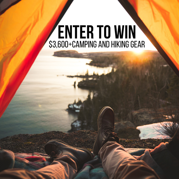Enter our $3,600 Camping Gear Giveaway!