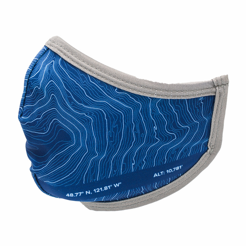 Mount Baker Topographic Facemask