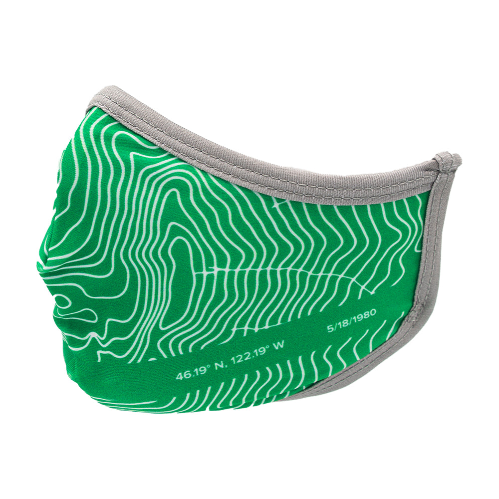 Mount St. Helens Topographic Facemask
