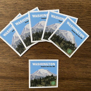 "Mount Rainier National Park Sticker - 2.5"" x 2.5"""