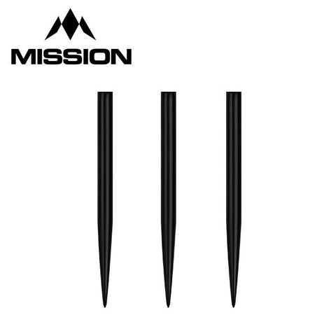 32mm Glide Points - Black - Points Only - Mission Darts
