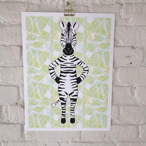 SCREEN PRINT Zebra poster