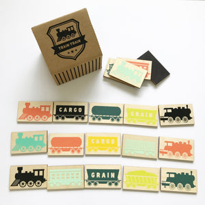 TRAIN-TRAIN wooden magnetic game