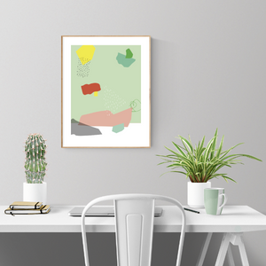Abstract Shape Poster LIGHT GREEN
