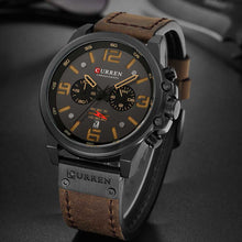 Load image into Gallery viewer, Chronograph Quartz Sports Watches For Men Leather Strap