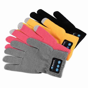 Unisex Winter Knit Warm Mittens Wireless Call Talking Gloves Mobile Phone Pad