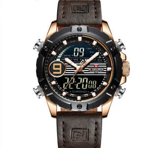 Military Watches With Chronograph, LED Digital And Analog