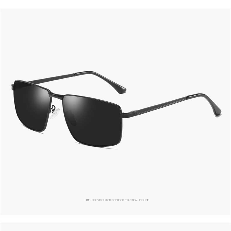 Metal Frame Polarized Sunglasses For Men