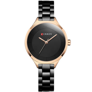 Fashion Quartz Watches For Women With Stainless Steel Band