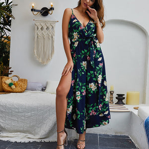 2019 Latest New Design V Neck Sleeveless Dress