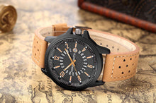 Load image into Gallery viewer, Mens Fashion Leather Strap Waterproof Quartz Watches With Calendar - Risen Fashion