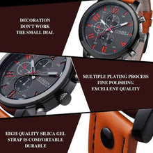 Load image into Gallery viewer, Fashion Quartz Watches Leather Strap Luminous Hands