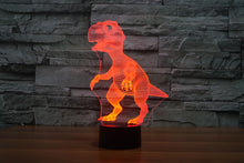 Load image into Gallery viewer, 3D Dinosaur LED Lamp 7 Colors Flashing