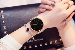 Women's  Stainless Steel Mesh Band Watch Ladies Waterproof Watch - Risen Fashion