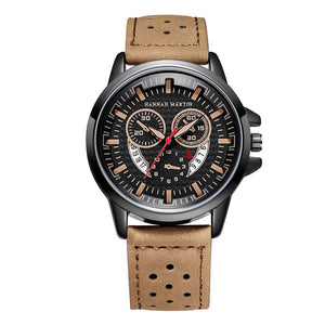 Mens Leather Watches Sports Watches For Men with Calendar - Risen Fashion