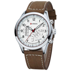 Classic Leather Strap Quartz Watches For Men