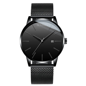 Unisex Fashion Stainless Mesh Band Watches with Calendar - Risen Fashion
