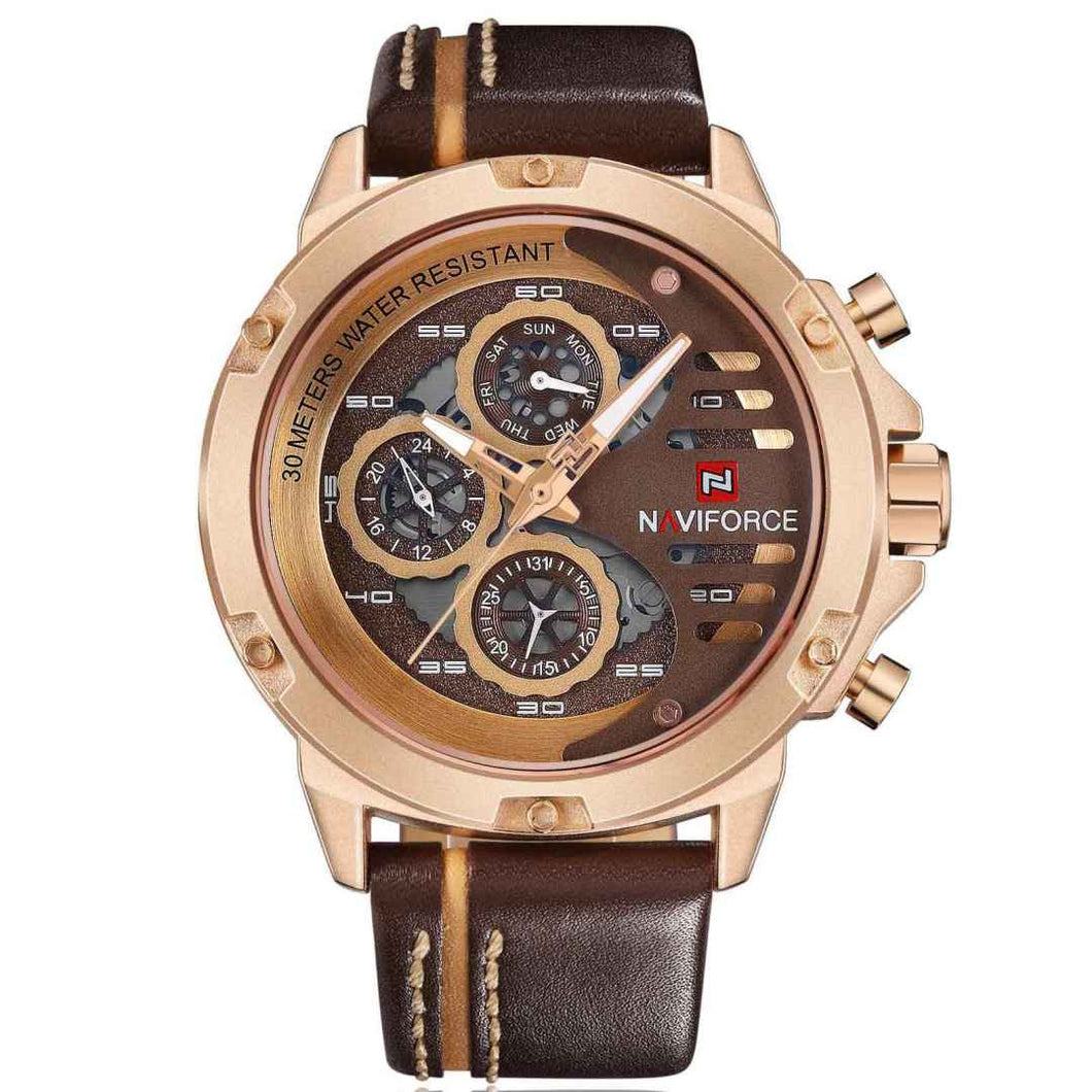 New Style Chronograph Quartz Watches Leather Strap