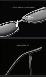 Mens Polarized Sunglasses Metal Frame Anti Ultraviolet UV400 - Risen Fashion