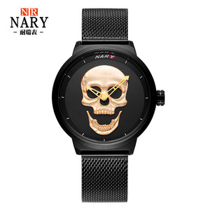Top Luxury Brand Man  Skull  Watch Fashion Sport Watch - Risen Fashion