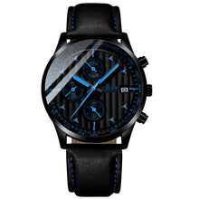 Load image into Gallery viewer, Fashion Chronograph Luminous Watches For Men Leather Strap