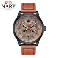 Load image into Gallery viewer, Mens Quartz Watches  With Leather Strap,Calendar - Risen Fashion