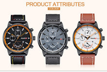 Load image into Gallery viewer, NARY Watch For Men Brand Casual Fashion Watches Male Quartz Clock Men's Leather Date Display Watchs Man With Wristwatches - Risen Fashion