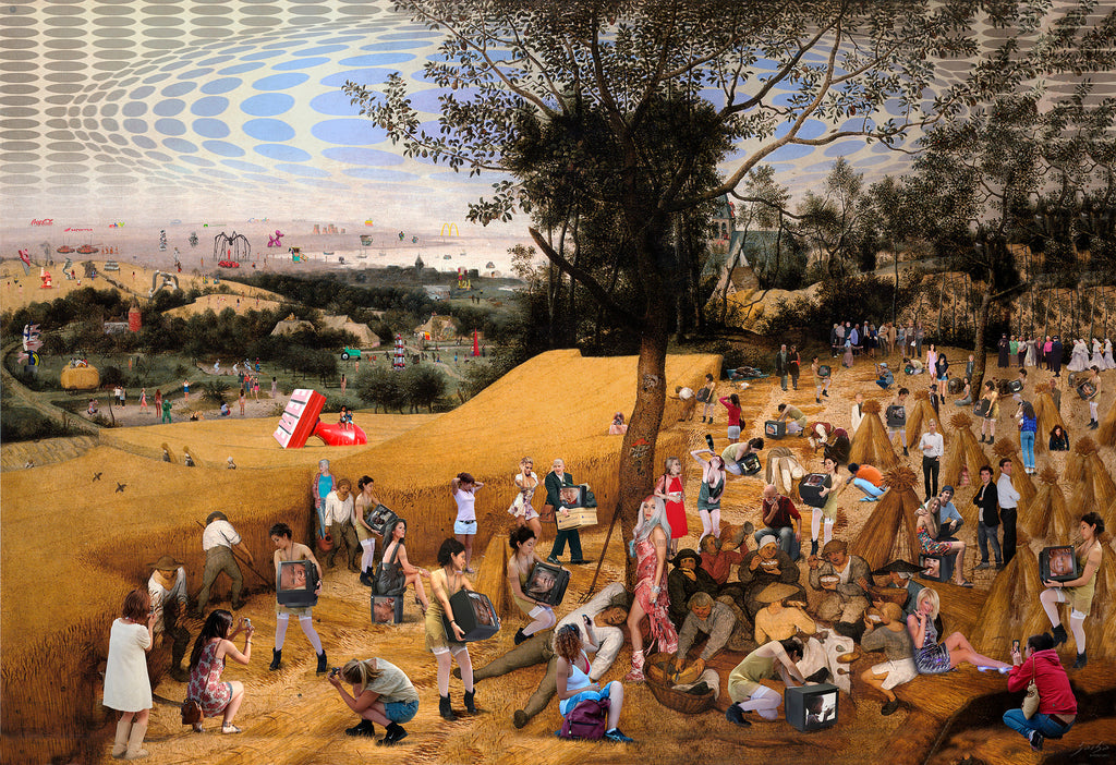 Lluis Barba The Harvesters. Brueghel