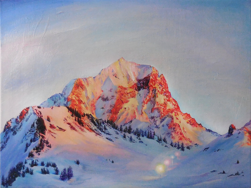 Anne Wölk Painting Alpenglow - Anne Wölk Painting Alpenglow - 5 Pieces Gallery - Contemporary Art & Photography