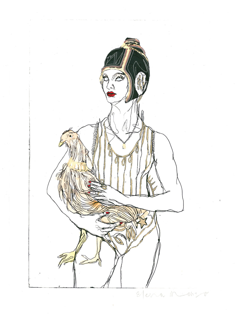 Elena Monzo Works on paper Chicken doll - Elena Monzo Works on paper Chicken doll - 5 Pieces Gallery - Contemporary Art & Photography