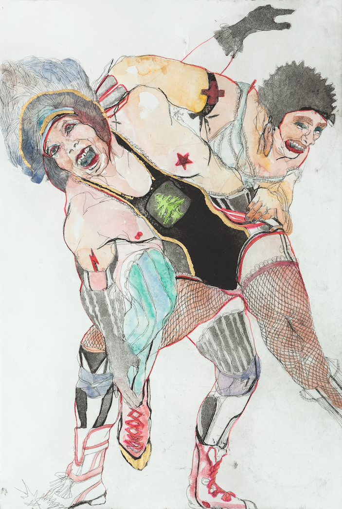 Elena Monzo Works on paper Lucha libre - Elena Monzo Works on paper Lucha libre - 5 Pieces Gallery - Contemporary Art & Photography