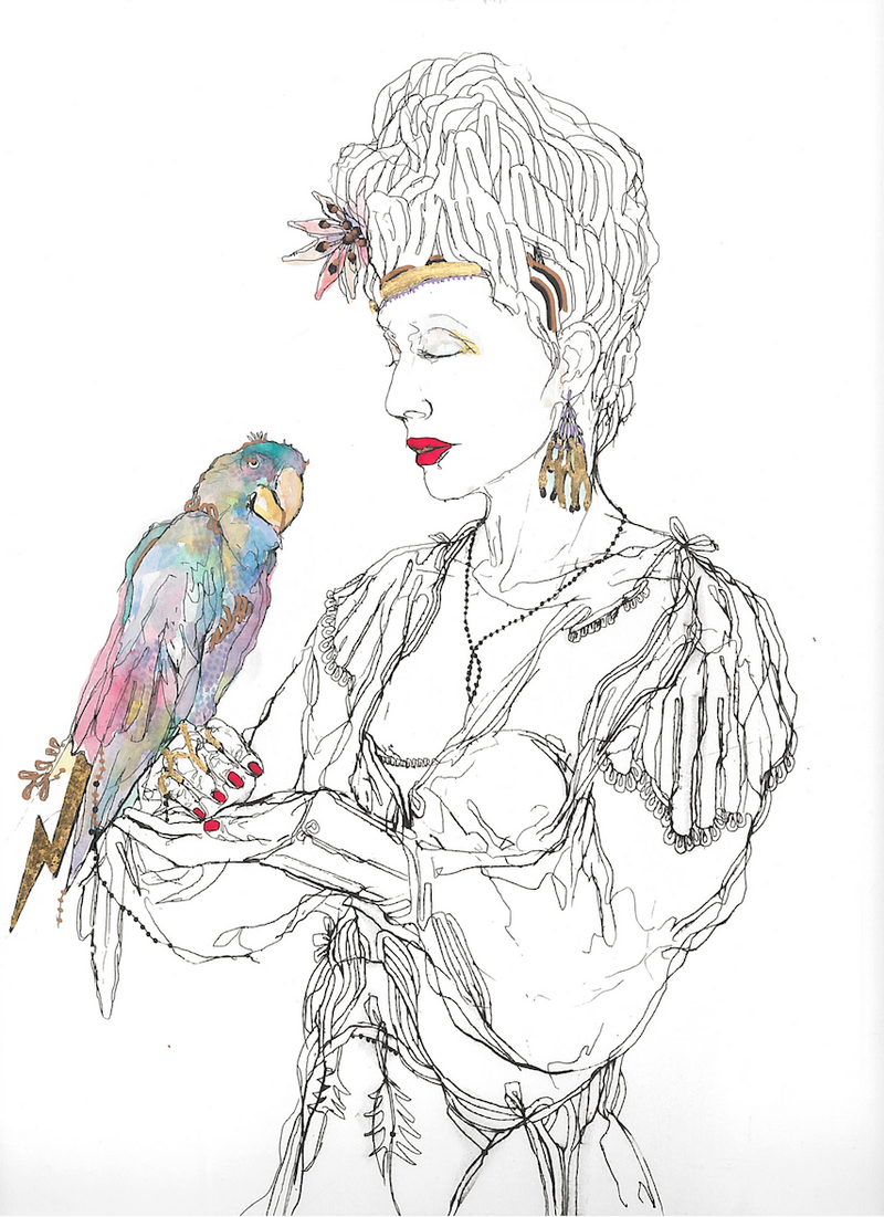Elena Monzo Works on paper Parrot - Elena Monzo Works on paper Parrot - 5 Pieces Gallery - Contemporary Art & Photography