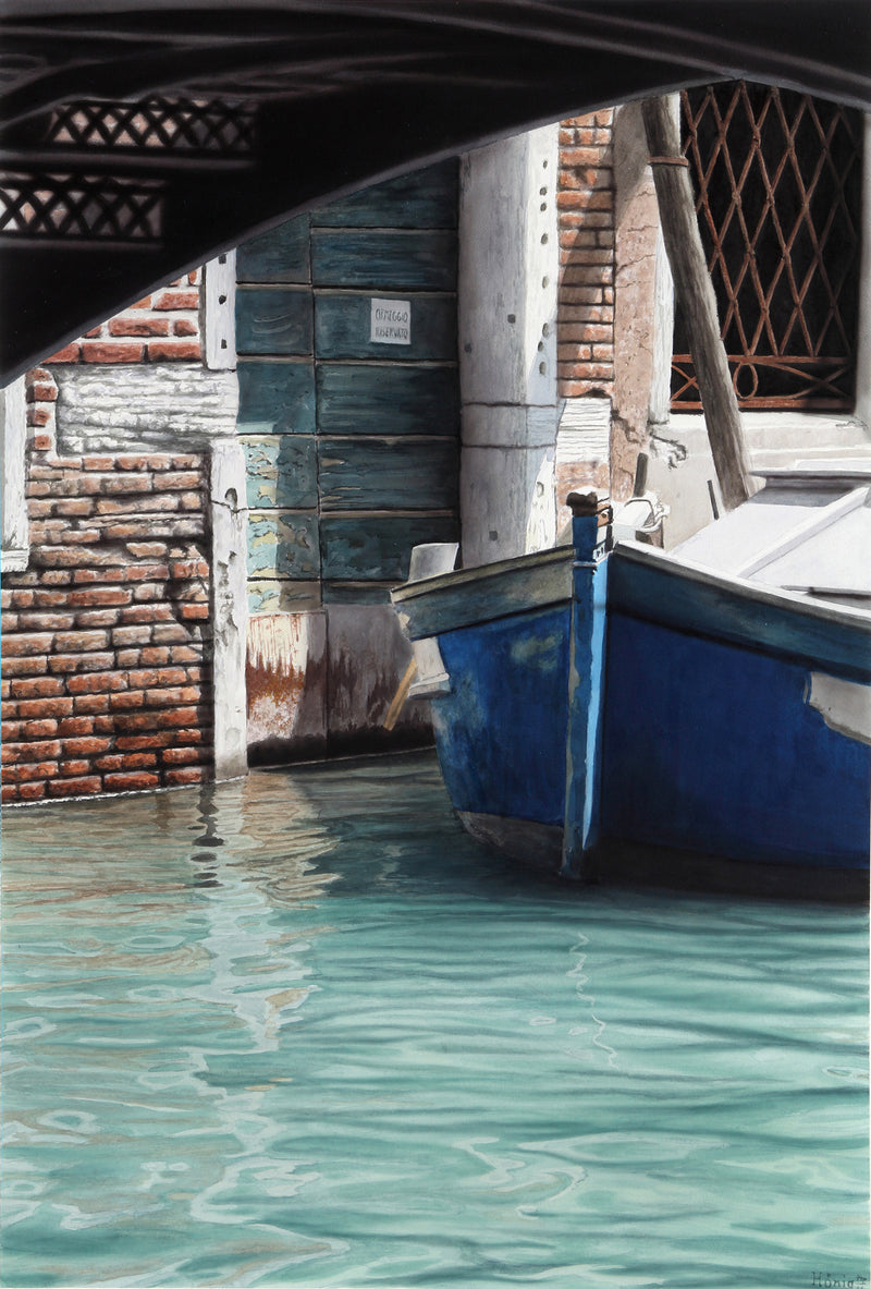 Manfred Hönig Painting Venedig Blue Boat - Manfred Hönig Painting Venedig Blue Boat - 5 Pieces Gallery - Contemporary Art & Photography